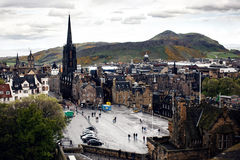 Edinburgh's busy Royal Mile Stock Image