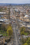 Edinburgh's cityscape from Carlton Hill Stock Image