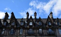 Edinburgh-` s Kamine Stockfotografie