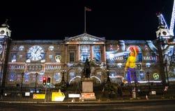 Edinburgh- - Edinburgh-` s Riese Advent Calendar - Edinburgh-` s Weihnachtsereignis - 10. Dezember 2017 Stockfotos