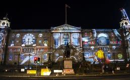 Edinburgh- - Edinburgh-` s Riese Advent Calendar - Edinburgh-` s Weihnachtsereignis - 10. Dezember 2017 Lizenzfreie Stockfotos