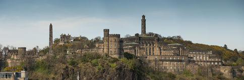 Edinburgh's skyline. A view of Edinburgh's Carlton Hill Stock Images