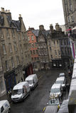 Edinburgh's steep and narrow streets Stock Photography