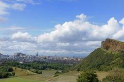 Edinburgh and Salisbury Crags stock images