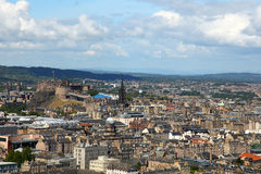Edinburgh from salisbury's crag Stock Image