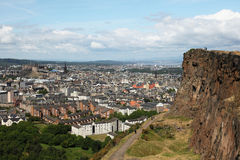 Edinburgh from salisbury's crag Royalty Free Stock Image