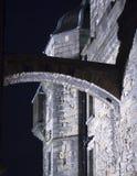 Edinburgh-Schloss-Bogen nachts Lizenzfreies Stockfoto