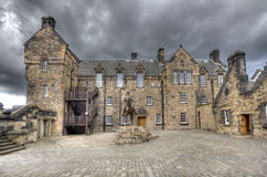 Edinburgh-SchlossEsplanade Lizenzfreies Stockfoto