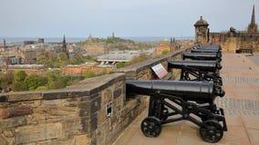 """EDINBURGH, SCHOTLAND †""""6 MEI, 2016Â: Argyle Battery bij het Kasteel van Edinburgh Stock Foto's"""