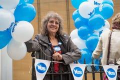 """EDINBURGH, SCHOTLAND, het UK †""""18 September, 2014 - de dag van het Onafhankelijkheidsreferendum Royalty-vrije Stock Foto"""