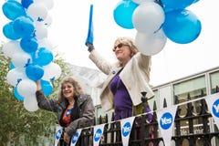 """EDINBURGH, SCHOTLAND, het UK †""""18 September, 2014 - de dag van het Onafhankelijkheidsreferendum Stock Foto's"""