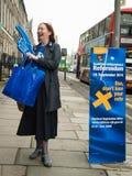 """EDINBURGH, SCHOTLAND, het UK †""""18 September, 2014 - de dag van het Onafhankelijkheidsreferendum Royalty-vrije Stock Afbeelding"""
