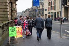 """EDINBURGH, SCHOTLAND, het UK †""""18 September, 2014 - de dag van het Onafhankelijkheidsreferendum Royalty-vrije Stock Fotografie"""