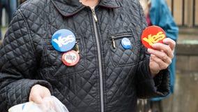 """EDINBURGH, SCHOTLAND, het UK †""""18 September, 2014 - de dag van het Onafhankelijkheidsreferendum Royalty-vrije Stock Foto's"""