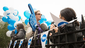 """EDINBURGH, SCHOTTLAND, BRITISCHES †""""am 18. September 2014 - Unabhängigkeits-Referendumtag Lizenzfreies Stockfoto"""