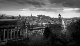 Edinburgh in Schwarzem u. in weißem Lizenzfreie Stockfotos