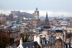 Edinburgh Scotland. Edinburgh Skylines building and castle from Calton Hill Scotland UK Royalty Free Stock Photography