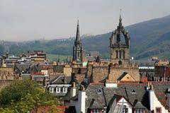 Edinburgh, Scotland. Edinburgh view with roofs. Scotland Royalty Free Stock Images