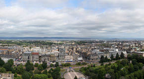 EDINBURGH, SCOTLAND - AUGUST 30: Edinburgh Castle, Landscape of Stock Photo