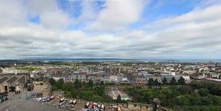 EDINBURGH, SCOTLAND - AUGUST 30: Edinburgh Castle, Landscape of Royalty Free Stock Photos