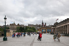 EDINBURGH SCOTLAND - AUGUST 30: Edinburgh Landscape of the city August 30 2013 in Edinburgh Scotland. Stock Photo