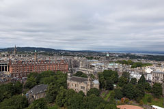 EDINBURGH SCOTLAND - AUGUST 30: Edinburgh Landscape of the city August 30 2013 in Edinburgh Scotland. Stock Photography