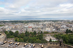 EDINBURGH SCOTLAND - AUGUST 30: Edinburgh Landscape of the city August 30 2013 in Edinburgh Scotland. Royalty Free Stock Photos