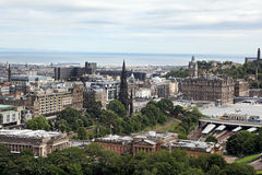 EDINBURGH SCOTLAND - AUGUST 30: Edinburgh Landscape of the city August 30 2013 in Edinburgh Scotland. Royalty Free Stock Photo