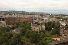 EDINBURGH SCOTLAND - AUGUST 30: Edinburgh Landscape of the city August 30 2013 in Edinburgh Scotland. Royalty Free Stock Images