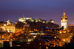 Edinburgh scotland dusk Stock Photo