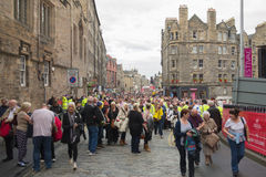 Edinburgh, Scotland - Edinburgh festival crowds Stock Image