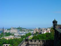 Edinburgh, Scotland. U.K., view from Edinburgh Castle, cityscape, city view Stock Photos