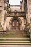 Edinburgh Scotland. The entrance of a historic building in Edinburgh Scotland Stock Photos
