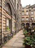 Edinburgh Scotland. Historic houses in Edinburgh, Scotland Stock Images