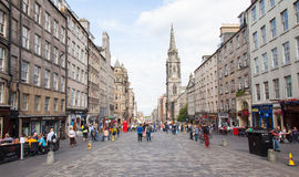 EDINBURGH SCOTLAND JULY 21: The Royal Mile is a succession of st Stock Photo
