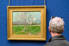 Painting of Vincent Van Gogh in Scottish national gallery in Edinburgh. EDINBURGH, SCOTLAND - MAY 19: Painting of Vincent Van Gogh in Scottish national gallery royalty free stock photos