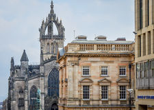 Edinburgh Scotland. Edinburgh is Scotlands capital and has a medieval town and a Georgian new town, with gardens and neoclassical buildings Stock Photography