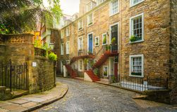 Scenic sight in Edinburgh old town, Scotland. royalty free stock photo