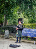 Bagpiper, Edinburgh Royalty Free Stock Photos