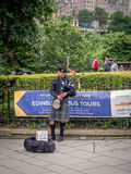 Bagpiper, Edinburgh Stock Photography