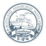 edinburgh scotland stämpel Arkivbild