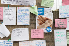 EDINBURGH, SCOTLAND, UK � September 18, 2014 - Independence referendum day Stock Photos
