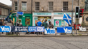 EDINBURGH, SCOTLAND, UK – September 18, 2014 - Independence referendum day. EDINBURGH, SCOTLAND, UK – September 18, 2014 - LEITH community stock photo