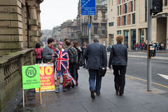 EDINBURGH, SCOTLAND, UK – September 18, 2014 - Independence referendum day Royalty Free Stock Photography