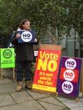 EDINBURGH, SCOTLAND, UK – September 18, 2014 - Independence referendum day Royalty Free Stock Photo