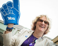 EDINBURGH, SCOTLAND, UK � September 18, 2014 - Independence referendum day Stock Photo