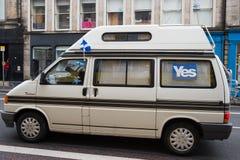 EDINBURGH, SCOTLAND, UK � September 18, 2014 - Independence referendum day Stock Photo