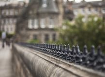 Edinburgh, Scotland, the UK - a bridge - soft focus. This image shows a view of an old bridge in Edinburgh, Scotland, the UK. It was taken on a sunny day in royalty free stock images