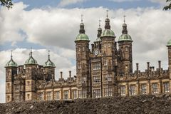 Edinburgh, Scotland, the UK - buildings and skies, Donaldson`s School. This image shows a view of the Donaldson`s School in Edinburgh, Scotland, the UK. It was royalty free stock photos