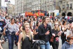 Edingburgh Fringe street festival stock photo